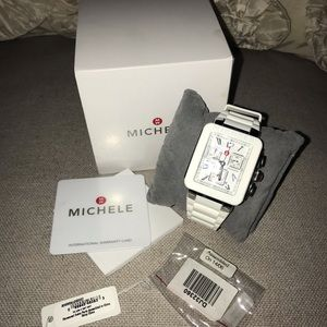 EUC Michele White Jelly Watch